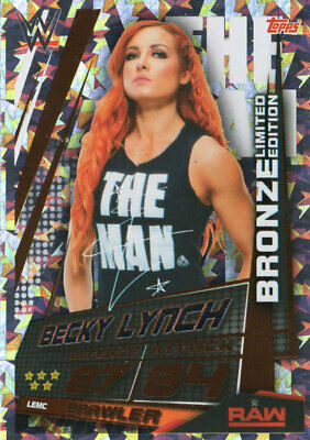 Topps Wwe Slam Attax Universe - Becky Lynch Bronze Limited Edition Card Lemc