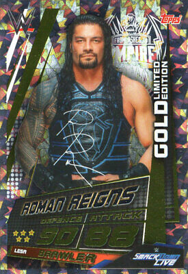 Topps Wwe Slam Attax Universe - Roman Reigns Gold Limited Edition Card Lesa