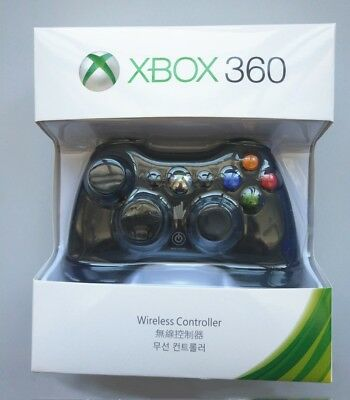 Genuine Wireless Game Controller For Microsoft Xbox 360 Gamepad Blk/Wht CA Stock