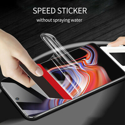 For Samsung Galaxy Note 10 Plus Full Coverage Clear Hydrogel Screen Protector US