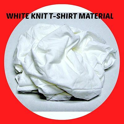 WHITE KNIT T-SHIRT WIPING RAGS CLEANING CLOTH 50 lb BOX - BEST QUALITY & PRICE