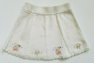 Janie and Jack Girls Sweater Skirt Ivory All IN Bows Size 2T NWT