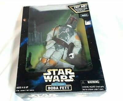 1998 Star Wars Electronic Talking BOBA FETT Action Figure Loose in Box LACR05