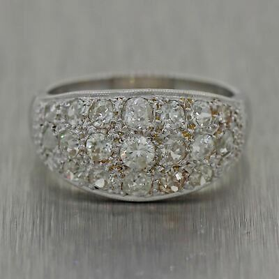 1930's Antique Art Deco Platinum 1ctw Diamond Band Rings