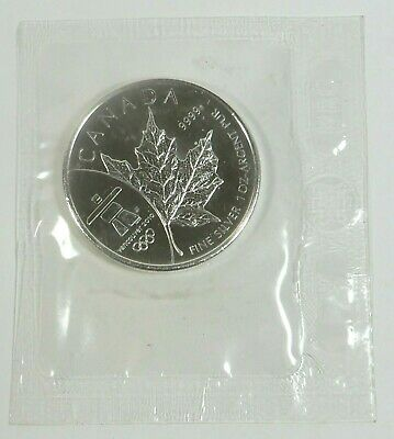 2008 $5 1oz. Silver Maple Leaf Vancouver Olympic Sealed