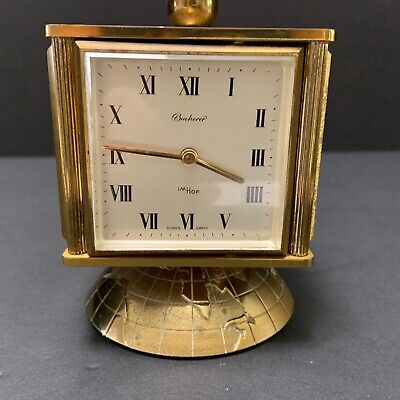 Vtg Swiss Weather Station ImHof 8Day Clock Hygrometer Barometer Thermometer Brss