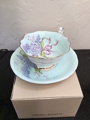 Antique Paragon Lilac Cup And Saucer   Appointment To Hm Queen Mary Signed