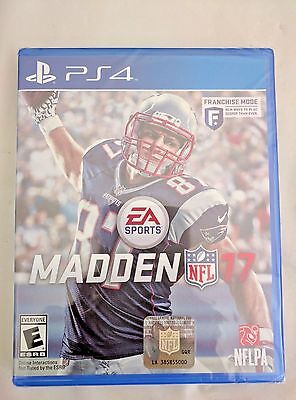 Madden NFL 17 (Sony PlayStation 4, PS4, 2016) BRAND NEW FACTORY SEALED Free ship