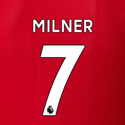 Milner 7 19/20 Premier League Liverpool Home White Name & Number Set = Adults