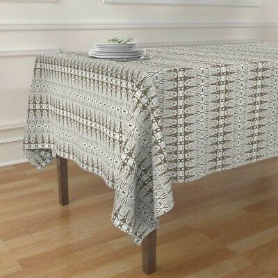 Tablecloth Lace Abstract Vintage Whimsical Antique French Love Cotton Sateen
