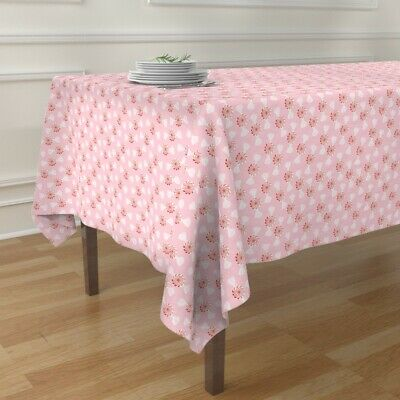 Tablecloth Holiday Christmas Sweets Baby Girl Mint Candy Fun Pink Cotton Sateen