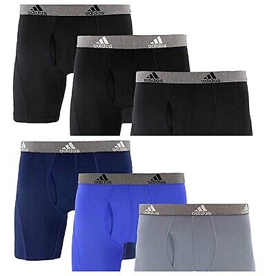 adidas Climalite Mens Boxer Brief Relaxed Performance Quick Dry 3 Pack