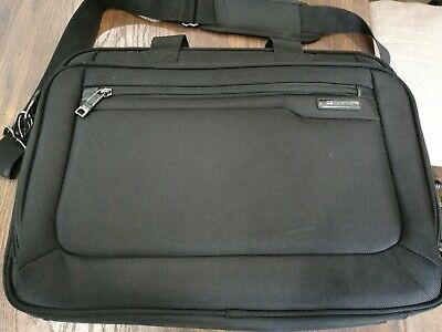 """Samsonite Classic Business Cases, 17"""" Laptop Briefcase in Black Preowned"""
