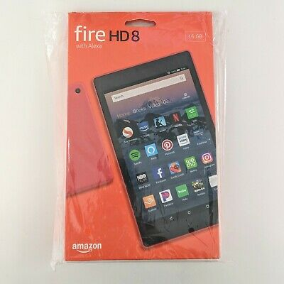 Amazon Fire HD 8 Tablet (16 GB, Wi-Fi, 8 in, 8th generation, latest model) - Red