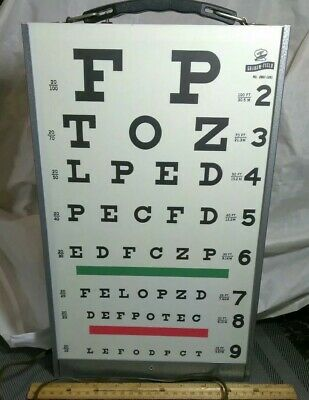 A Vintage Graham-Field Electric Lighted Eye Chart No. 2867-1261. Nice!!