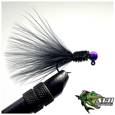 Purple Drifter 1//16th oz Steelhead Salmon AEO Marabou Jig 3X Hook 2 PACK