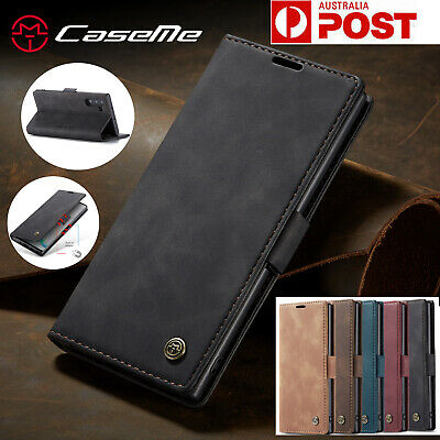 F Samsung Galaxy Note 10 10+ Plus 5G Retro Leather Cards Stand Wallet Case Cover