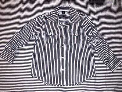 Baby Gap Boys Nautical White Blue Striped Button Down Shirt 5 Years SELLING TONS