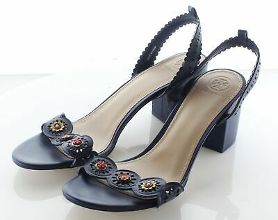 16dd01b3cb0 09-16 NEW TORY Burch Cecile Leather Ankle Strap Sandal Women's Sz 8 ...