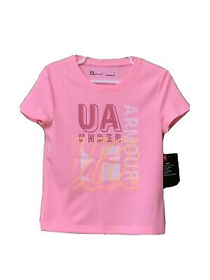 UNDER ARMOUR Heat Gear Girls Shirt Pink BRAND NEW W/TAGS Size 6