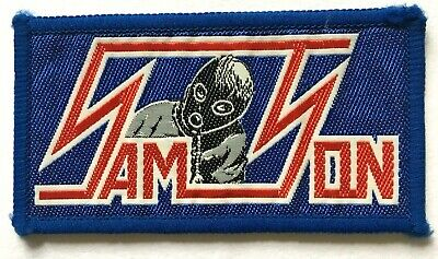 SAMSON - Logo - Old OG Vtg 70/80`s Woven Patch Sew On NWOBHM Aufnäher écusson