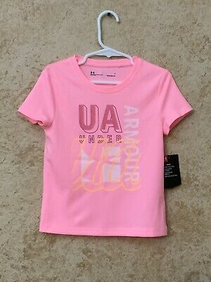 NWT — UNDER ARMOUR Heat Gear Girls Shirt Pink BRAND BRAND Size 5