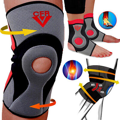 Sport Knee Patella Support Brace Arthritis Compression Arm Sleeve Pain Relief SF