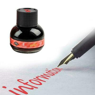 60ml Hero 234 Red Carbon Fountain Pens Ink Writing Glass Bottle Refill Ink Q6N6