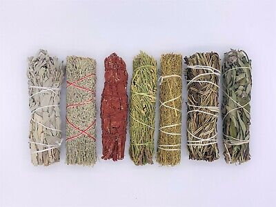7X Sage Smudge Stick Kit: White, Blue, Dragons Blood, Cedar, Lavender, Yerb.....