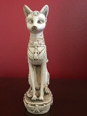 Vintage Rare Ancient Egyptian Goddess Bastet Cat deco. Scarab Handmade In Egypt