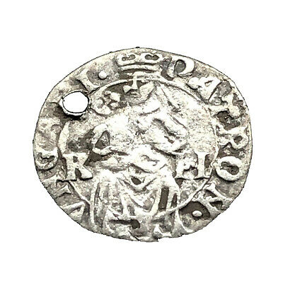 "Authentic Medieval European Silver Coin ""RH"" Rare Middle Ages Artifact Old C7"