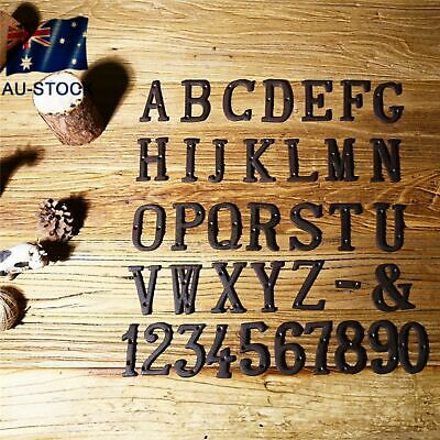 Metal Letters Alphabet Number Cast Iron Sign Doorplate Name DIY Cafe Wall Decor