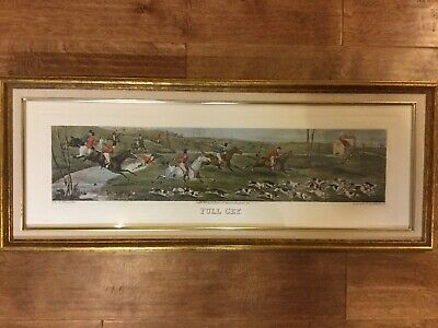 Henry Alken Etching Full Cry Aquatinted By T. Sutherland 1824, Framed Print