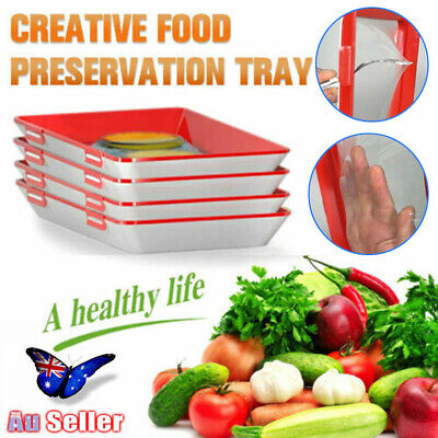 4Pcs Creative Healthy Food Preservation Tray Storage Container Set Kitchen Tools
