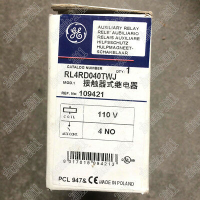 1PC NEW GE Relay RL4RD040TWJ 110V
