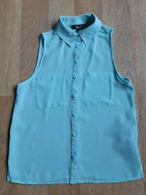 New Look Generation 915 Girls Mint Green Sleeveless Top Blouse Age 9-10 Years