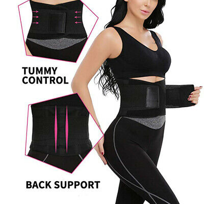 Waist Trainer Xtreme Power Back Support Belt Hot Slimming Fajas Body Shaper US