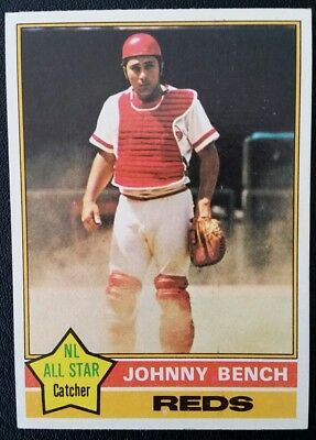 1976 Topps Baseball Johnny Bench #300 **CENTERED SHARP**