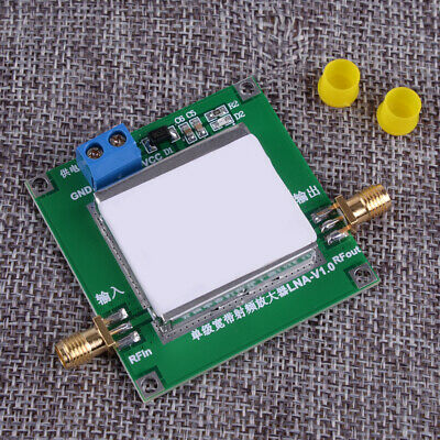 12V DC Low Noise LNA RF Receiver Broadband Signal Amplifier Module HF VHF / UHF