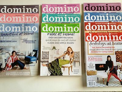Lot of 10 RARE Domino Magazines from 2007 Complete Year!  All Stickers!