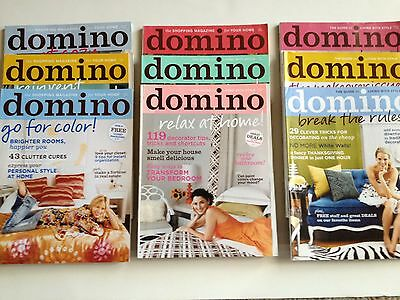 Lot of 9 Domino Magazines from 2006 Complete Year!  All Stickers!