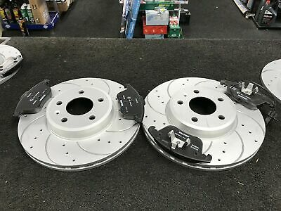 AUDI A5 8T FRONT DRILLED GROOVED BRAKE DISCS FOR 1.8-3.2 COUPE 07-17 314mm
