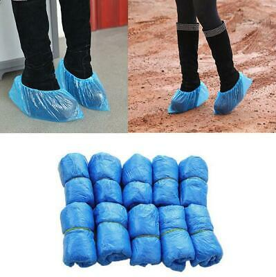 100-2000 Boot Covers Plastic Disposable Shoe Covers Overshoes Medical Waterproof