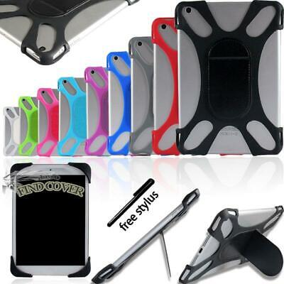"""Universal Silicone Soft Back Stand Shockproof Cover Case For Various 7"""" 8 Tablet"""