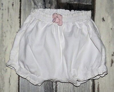 ~ 3 mois SERGENT MAJOR - NRF178  /   Superbe Short en coton blanc Fille ~