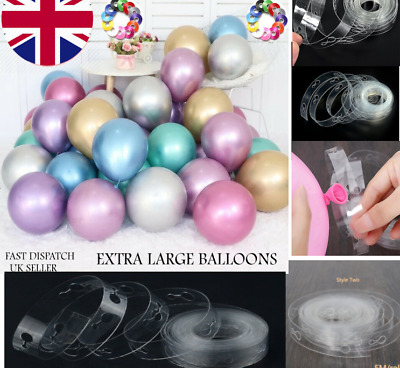"12"" Metallic Pearl Chrome Latex Balloons for Wedding Birthday Party UK 10-100PCS"