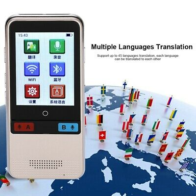W5 6 Channels Simultaneous Translator 2.4'' HD Capacitive Screen WiFi 4G Gold