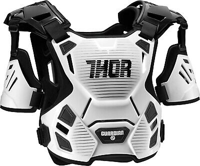 Thor Guardian Motocross Race Chest Protector Armour White Adult XLarge XXLarge