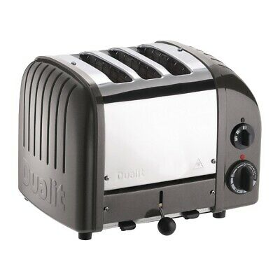 Dualit 2 + 1 Combi Vario 3 Slice Toaster Metallic Charcoal 31209 EBCD347-A