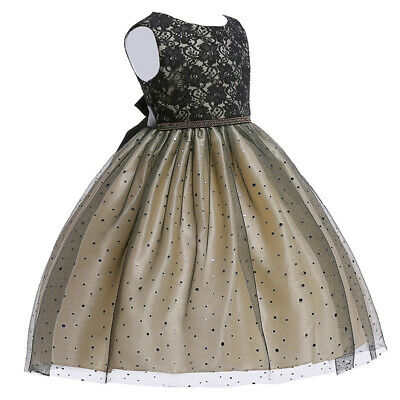 2-16Y Toddler Baby Girl's Bling Princess Dress Sequin Party Wedding Tutu Dress